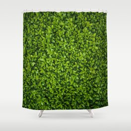 Green Leaves Pattern Shower Curtain