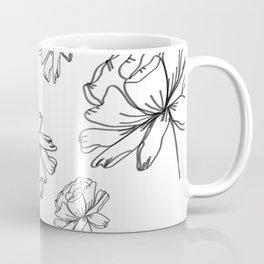 Hand Drawn Peonies Coffee Mug