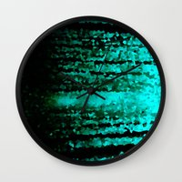 teal Wall Clocks featuring Teal  by 2sweet4words Designs