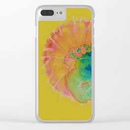 Jellyfish Abstract Clear iPhone Case
