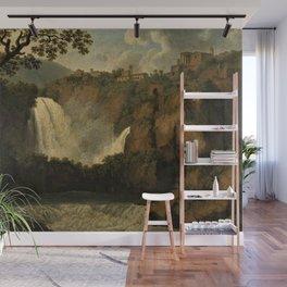 Waterfalls of Tivoli, Lazio, Italy by Jakob Philipp Hackert Wall Mural