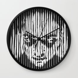 no casualities - b&w version Wall Clock