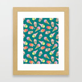 frozen delights in teal Framed Art Print