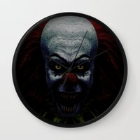 pennywise Wall Clocks featuring Pennywise by John Medbury (LAZY J Studios)