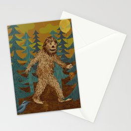 Bigfoot birthday card Stationery Cards