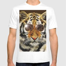 In the Eye of the Tiger Mens Fitted Tee White MEDIUM