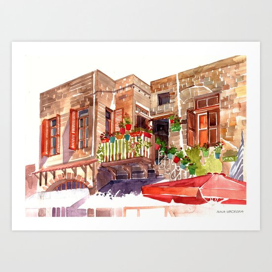 Rhodes Art Print