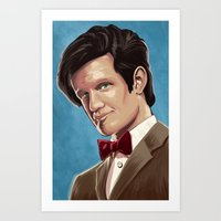 dr who Art Prints featuring Dr Who by MODBLOT: Art of Dan Marek