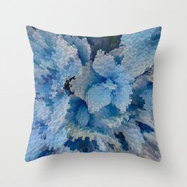 Hydrangea glitches Throw Pillow
