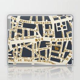 PARIS MAP GREY GOLD Laptop & iPad Skin