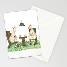 Sheep knitting Stationery Cards