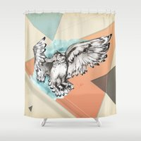 mcfly Shower Curtains featuring Owl McFly by carographic by carographic portrait paintings
