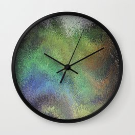 frosted glass background psychedelic Wall Clock