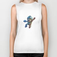 mega man Biker Tanks featuring Mega Man Jumping by jaimito