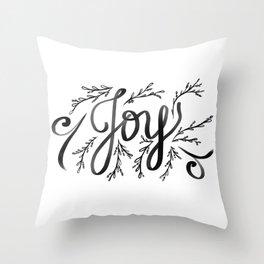 Joy and mistletoe Throw Pillow