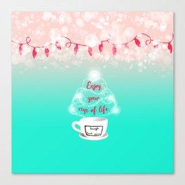 Christmas cup of joy 2 Canvas Print