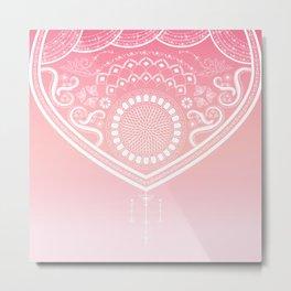 Bohemian Ornamental Pink Metal Print