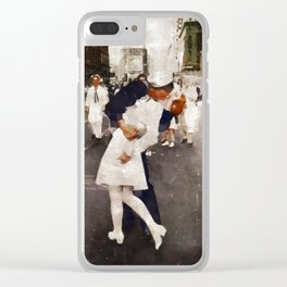The Kiss,VJ Day, WWII Clear iPhone Case