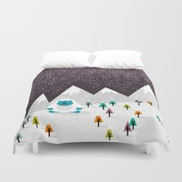 yeti Duvet Covers featuring Yeti by Kakel