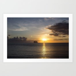 Sailing off into the Sun Art Print