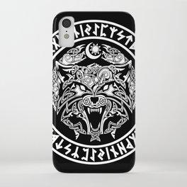 Viking Fenrir Emblem - Wolf Norse Mythology iPhone Case