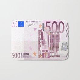 500 Euro note Bath Mat