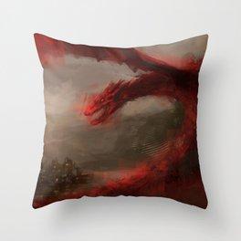 Smaug 2 Throw Pillow