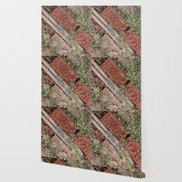Little Leaves & Red Bricks Wallpaper