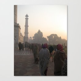Taj Mahal at Dawn of the Morning. Canvas Print