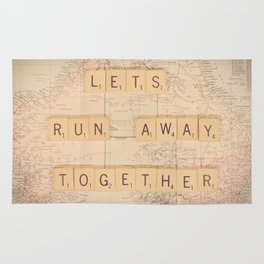 Lets Run Away Together Rug