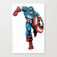 avenger Canvas Prints featuring Avenger: Cap' by Popp Art