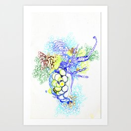 From Simplicity 2 Complexity series - Neural Network Art Print