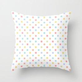 Happy Pastel Dots Throw Pillow