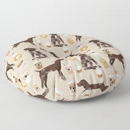 German Shorthair Pointer dog breed custom pet portrait coffee lover pet friendly gifts Floor Pillow