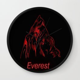 THE RED PROJECT - Everest . Wall Clock