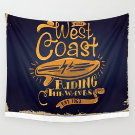 West Coast Beach Riding The Waves Wall Tapestry