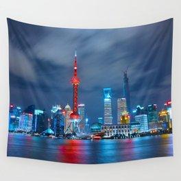 Shangai, China Wall Tapestry
