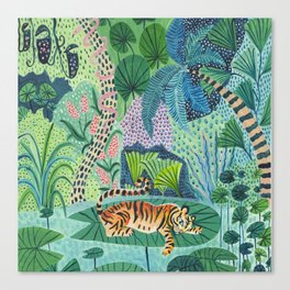 Jungle Tiger Canvas Print