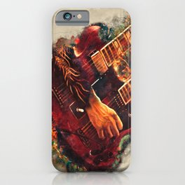 Jimmy Page's doubleneck electric guitar iPhone Case
