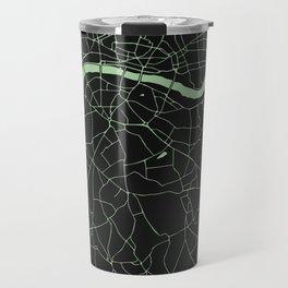 London Black on Green Street Map Travel Mug