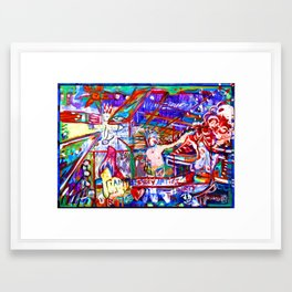 no i'm the sexy artist Framed Art Print