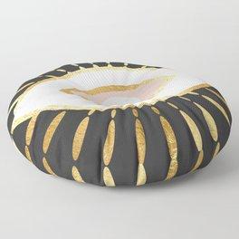 gold foil evil eye in blush Floor Pillow