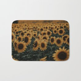Sunflower Field Bath Mat