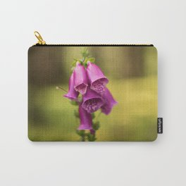 Wildflower Foxglove Carry-All Pouch
