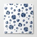 Shibori Polka Splotch Indigo Blue by followmeinstead