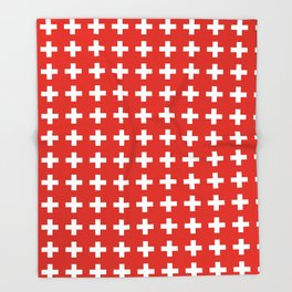 flag of switzerland 2-Switzerland, Alps,swiss,Schweizer,suisse,zurich,bern,geneva Throw Blanket