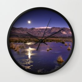moonlight over the mountains Wall Clock