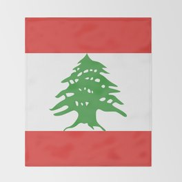 Lebanon flag emblem Throw Blanket