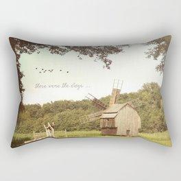 Back in time, milling grains Rectangular Pillow