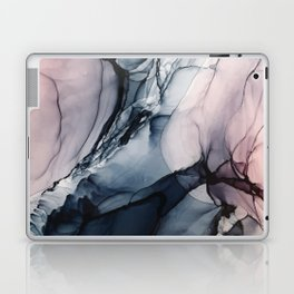 Blush, Navy and Gray Abstract Calm Clouds Laptop & iPad Skin